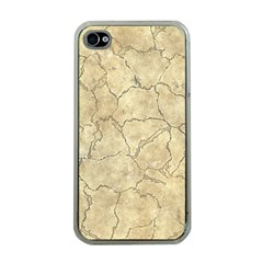 Cracked Skull Bone Surface B Apple Iphone 4 Case (clear) by MoreColorsinLife