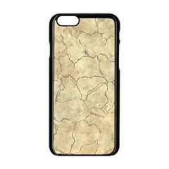 Cracked Skull Bone Surface B Apple Iphone 6/6s Black Enamel Case by MoreColorsinLife