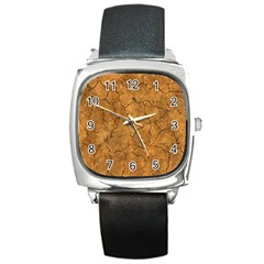 Cracked Skull Bone Surface C Square Metal Watch by MoreColorsinLife