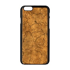 Cracked Skull Bone Surface C Apple Iphone 6/6s Black Enamel Case by MoreColorsinLife