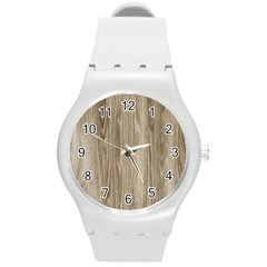 Wooden Structure 3 Round Plastic Sport Watch (m) by MoreColorsinLife