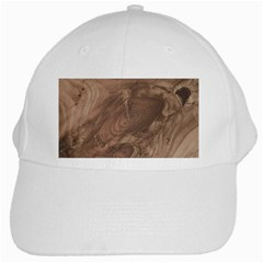 Fantastic Wood Grain Soft White Cap by MoreColorsinLife