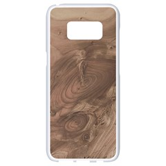 Fantastic Wood Grain Soft Samsung Galaxy S8 White Seamless Case by MoreColorsinLife