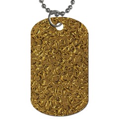 Sparkling Metal Art A Dog Tag (two Sides) by MoreColorsinLife