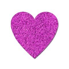 Sparkling Metal Art D Heart Magnet by MoreColorsinLife