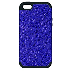 Sparkling Metal Art E Apple Iphone 5 Hardshell Case (pc+silicone) by MoreColorsinLife