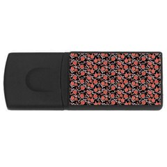 Roses pattern USB Flash Drive Rectangular (2 GB) by Valentinaart