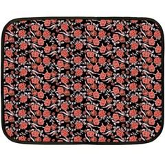 Roses Pattern Double Sided Fleece Blanket (mini)  by Valentinaart