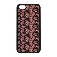 Roses Pattern Apple Iphone 5c Seamless Case (black) by Valentinaart