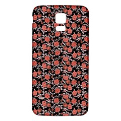Roses Pattern Samsung Galaxy S5 Back Case (white) by Valentinaart