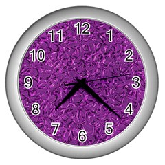 Sparkling Metal Art F Wall Clocks (silver)  by MoreColorsinLife