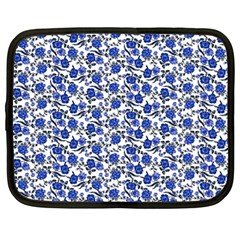 Roses Pattern Netbook Case (large) by Valentinaart