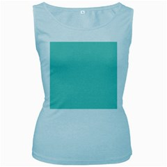 Tiffany Aqua Blue Puffy Quilted Pattern Women s Baby Blue Tank Top by PodArtist