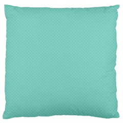 Tiffany Aqua Blue Puffy Quilted Pattern Large Flano Cushion Case (One Side) by PodArtist
