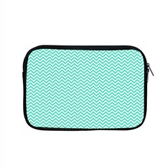 Tiffany Aqua Blue Chevron Zig Zag Apple MacBook Pro 15  Zipper Case