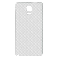 Bright White Stitched and Quilted Pattern Galaxy Note 4 Back Case by PodArtist