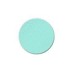 Tiffany Aqua Blue Diagonal Sailor Stripes Golf Ball Marker (10 pack) by PodArtist