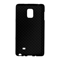 Sleek Black Stitched and Quilted Pattern Galaxy Note Edge by PodArtist