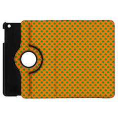 Heart-Shaped Shamrock Green on Orange St.Patrick?¯s Day Clover Apple iPad Mini Flip 360 Case by PodArtist