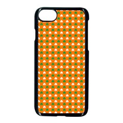 Heart-Shaped Clover Shamrock On Orange St. Patrick s Day Apple iPhone 7 Seamless Case (Black)