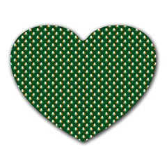 Irish Flag Green White Orange on Green St. Patrick s Day Ireland Heart Mousepads by PodArtist