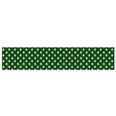 Irish Flag Green White Orange on Green St. Patrick s Day Ireland Flano Scarf (Small)