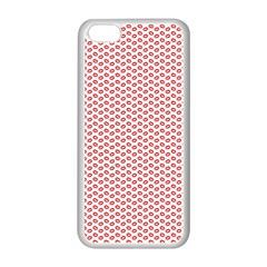 Lipstick Red Kisses Lipstick Kisses Apple iPhone 5C Seamless Case (White)