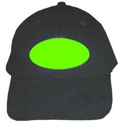 Super Bright Fluorescent Green Neon Black Cap by PodArtist