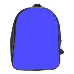 Bright Electric Fluorescent Blue Neon School Bags(Large)  by PodArtist