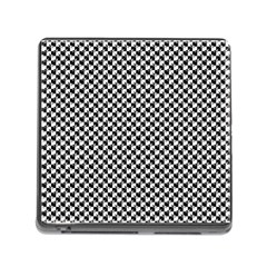 Black and White Checkerboard Weimaraner Memory Card Reader (Square)
