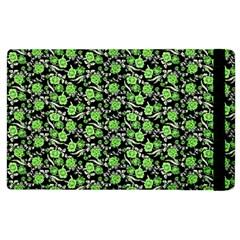 Roses Pattern Apple Ipad 2 Flip Case by Valentinaart