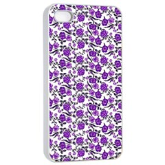 Roses Pattern Apple Iphone 4/4s Seamless Case (white) by Valentinaart