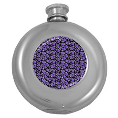 Roses Pattern Round Hip Flask (5 Oz) by Valentinaart