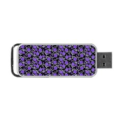 Roses Pattern Portable Usb Flash (one Side) by Valentinaart