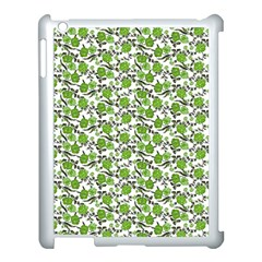 Roses Pattern Apple Ipad 3/4 Case (white) by Valentinaart