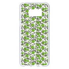 Roses Pattern Samsung Galaxy S8 Plus White Seamless Case by Valentinaart