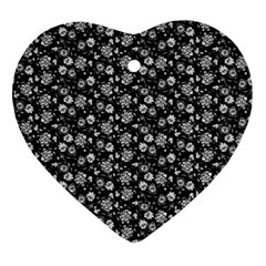 Roses Pattern Ornament (heart) by Valentinaart