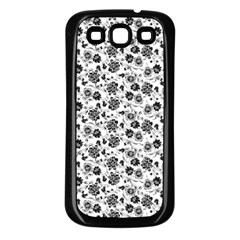 Roses Pattern Samsung Galaxy S3 Back Case (black) by Valentinaart