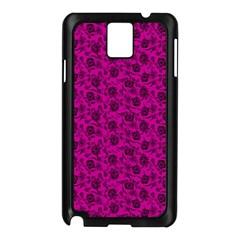 Roses Pattern Samsung Galaxy Note 3 N9005 Case (black) by Valentinaart