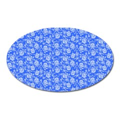 Roses Pattern Oval Magnet by Valentinaart