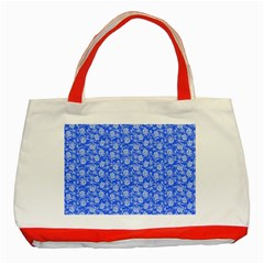 Roses Pattern Classic Tote Bag (red) by Valentinaart