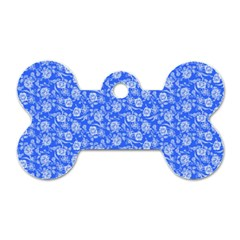 Roses Pattern Dog Tag Bone (one Side) by Valentinaart