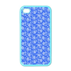 Roses Pattern Apple Iphone 4 Case (color) by Valentinaart