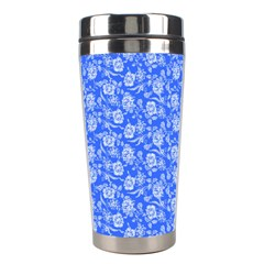 Roses Pattern Stainless Steel Travel Tumblers by Valentinaart