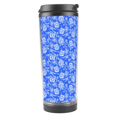 Roses Pattern Travel Tumbler by Valentinaart