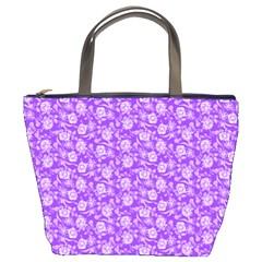 Roses Pattern Bucket Bags by Valentinaart