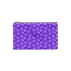 Roses Pattern Cosmetic Bag (small)  by Valentinaart