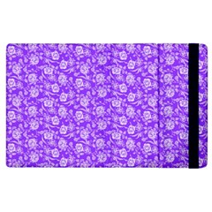 Roses Pattern Apple Ipad 2 Flip Case by Valentinaart