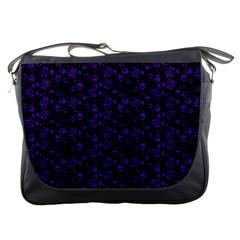Roses Pattern Messenger Bags by Valentinaart