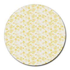 Roses Pattern Round Mousepads by Valentinaart